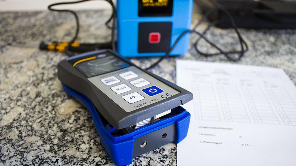 ISO Kalibrierung eines Vibrationsmessers