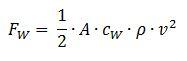 Formel zur Berechnung der Kraft aus der Beschleunigung